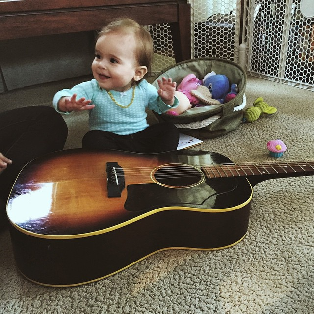 My daughter likes vintage guitars, actually she plays it like a drum. 👍 - sam