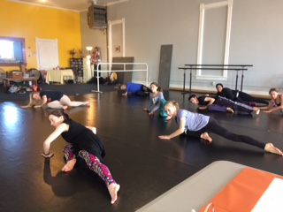 Nicklos instructing at The Movement Project's Summer Intensive Audition at Mookie's Academy of Dance