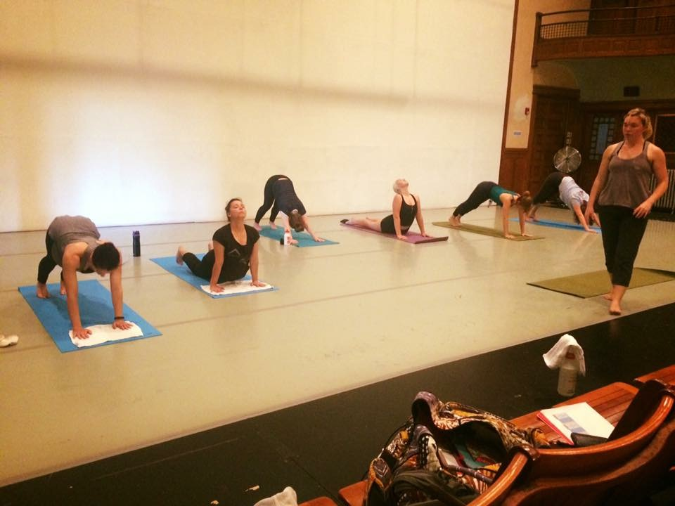 Dancers at The Movement Project's Professional Summer Intensive 2017 take a refreshing and restorative yoga class.