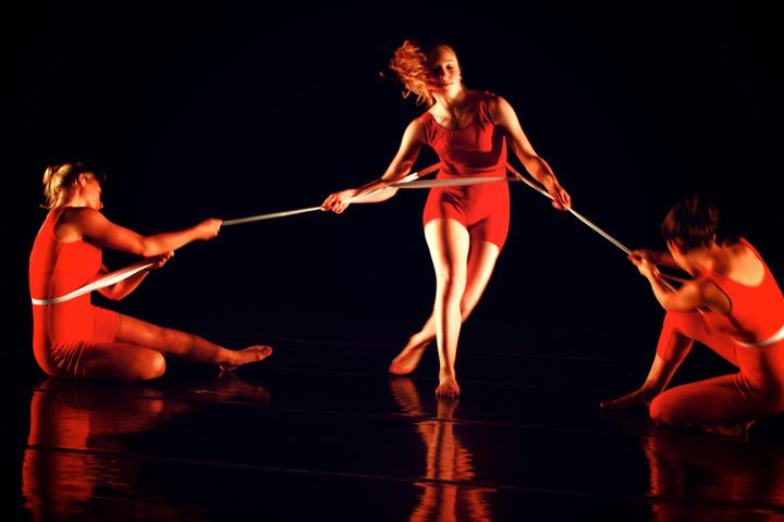 """Dancers oftentimes feel tugged around with juggling many responsibilities and jobs. Photo: """"All together now..."""" 2011."""