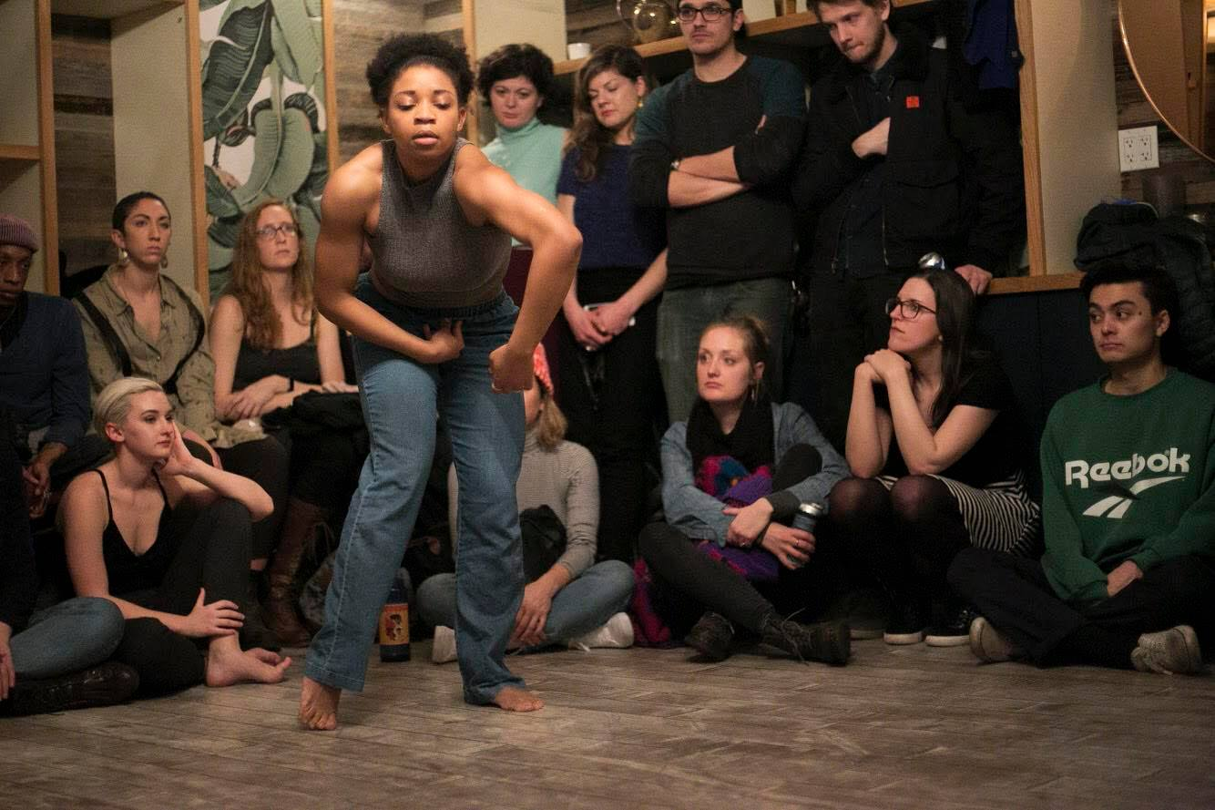 Kimberly Murry dances in an intimate space. Photo by Caylee Shimizu.