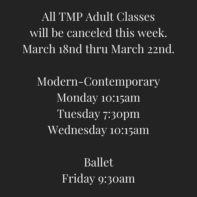 WEEKLY CLASS UPDATE! Come see us Friday night. 7pm & 9pm