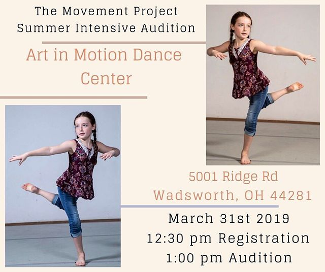 NEXT STOP —  @artinmotiondancecenter ⁣ . ⁣ TMP is thrilled to be at Art in Motion Dance Center! We are seeking 12-18 dancers ready to strengthen their technique, artistic voice, and create new experiences! ⁣ . ⁣ FREE AUDITION FOR EVERYONE!