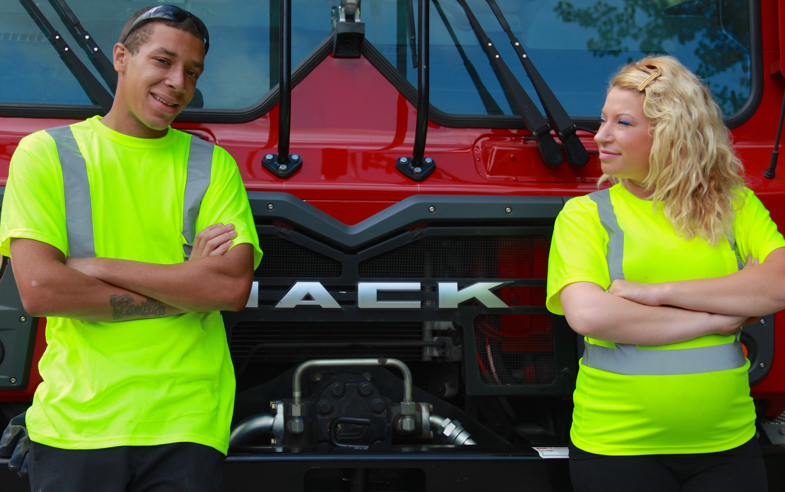Taylor Barry, driver and Damon Rose, curbside pickup-laborer.jpg