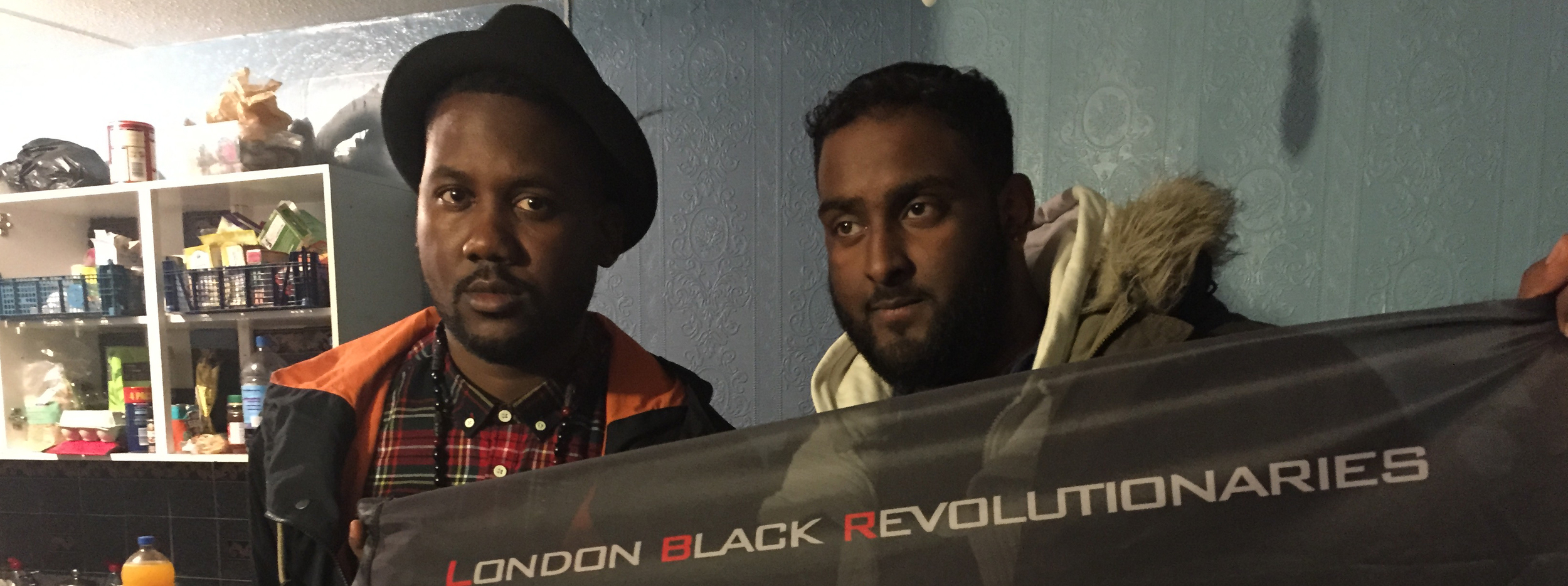 Tef was able to link up with the London Black Revolutionaries who are about that life for real.  They are currently occupying an 100 unit apartment building in London, and took Tef on an exclusive tour.