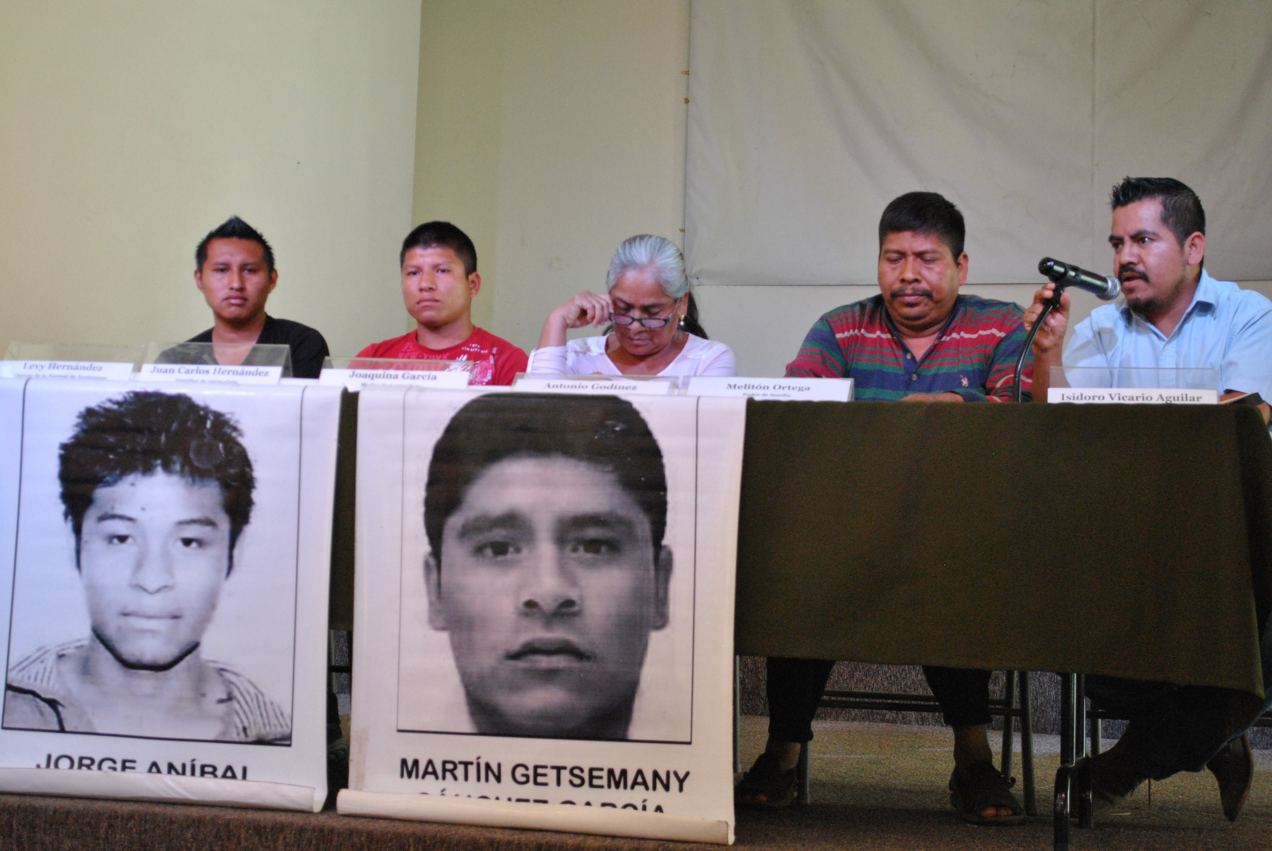 Survivors of the attacks and parents of the missing held a press conference in Mexico City on Tuesday to ask that state elections be voided in Guerrero this year. (Photo by Melissa del Pozo/VICE News)