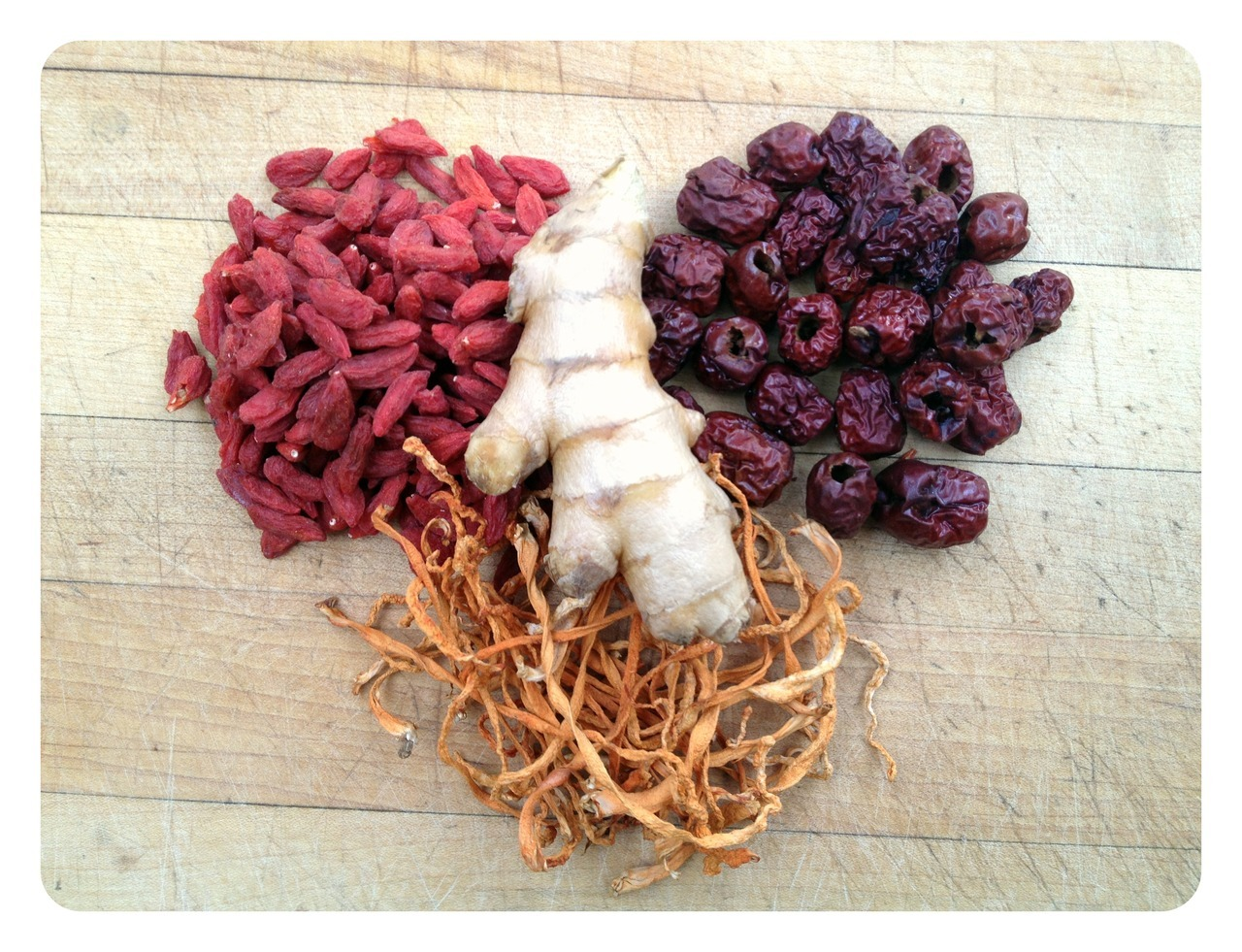 Goji, Chinese Dates, Cordyceps, Ginger