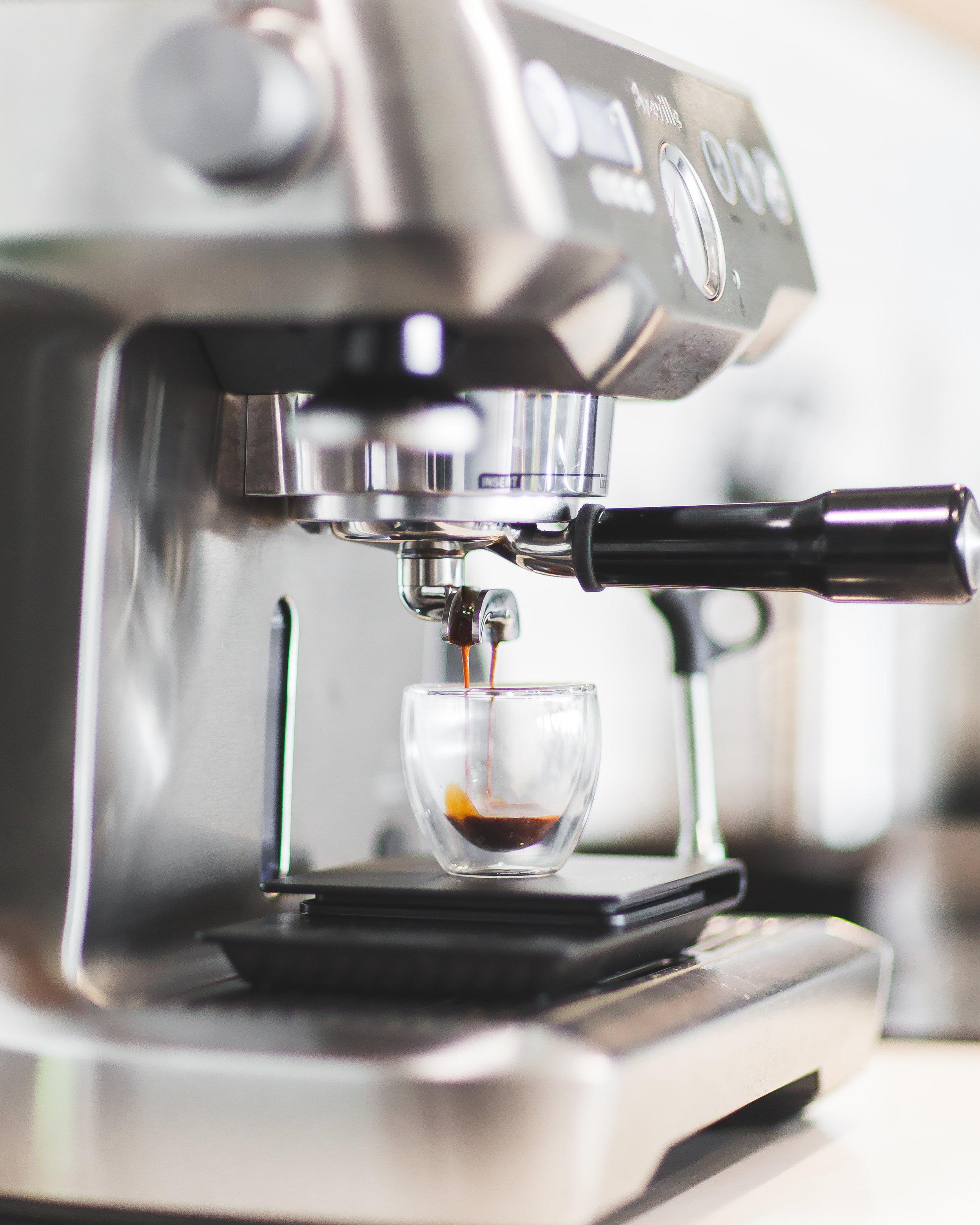 Espresso Brewing - Breville Dual Boiler MachineROK Manual Espresso MakerEspresso Distribution ToolKeepCup 12oz Reusable Coffee Cup