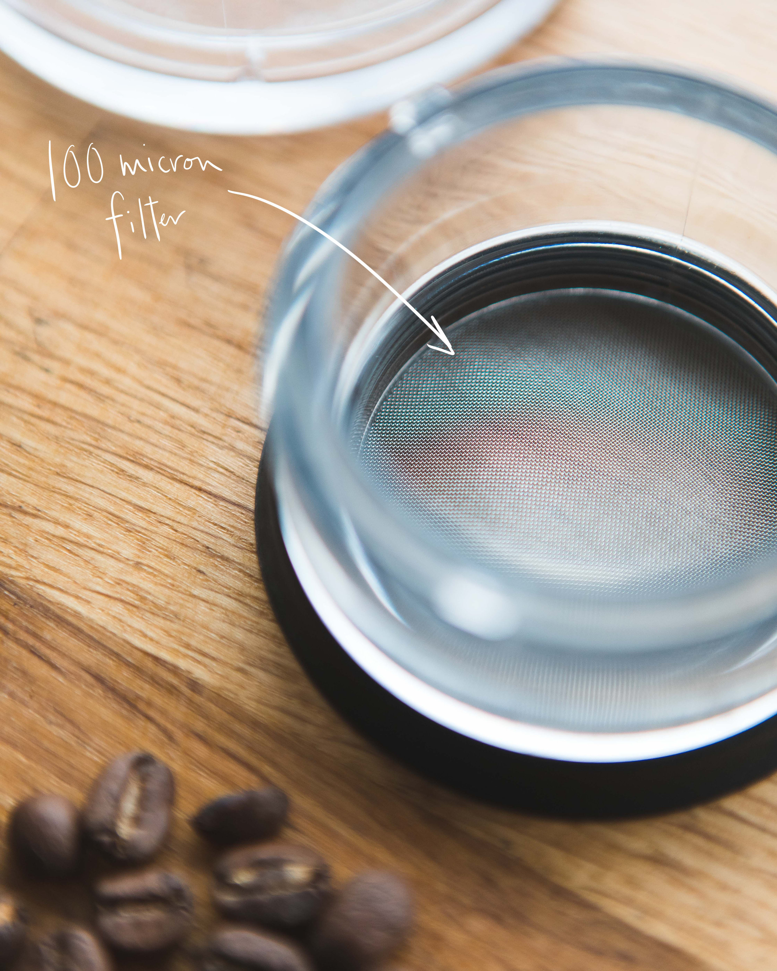 Two stainless steel filters allow your flavours to pass through but stop fines and sludge right in their tracks.