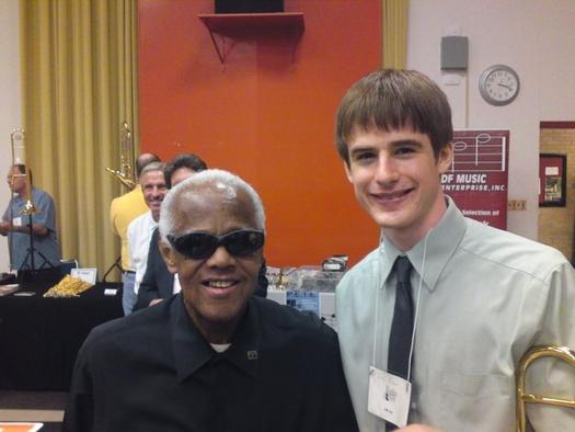 With Slide Hampton at International Trombone Association Festival in Austin, TX