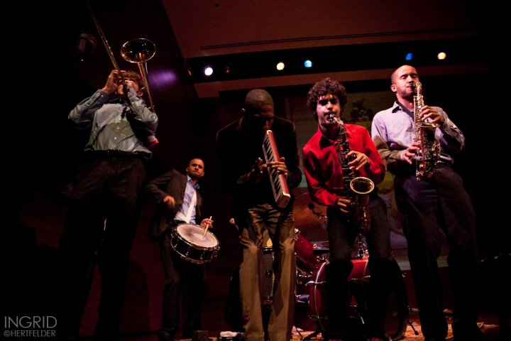 With the Jonathan Batiste Band at the Highline Ballroom