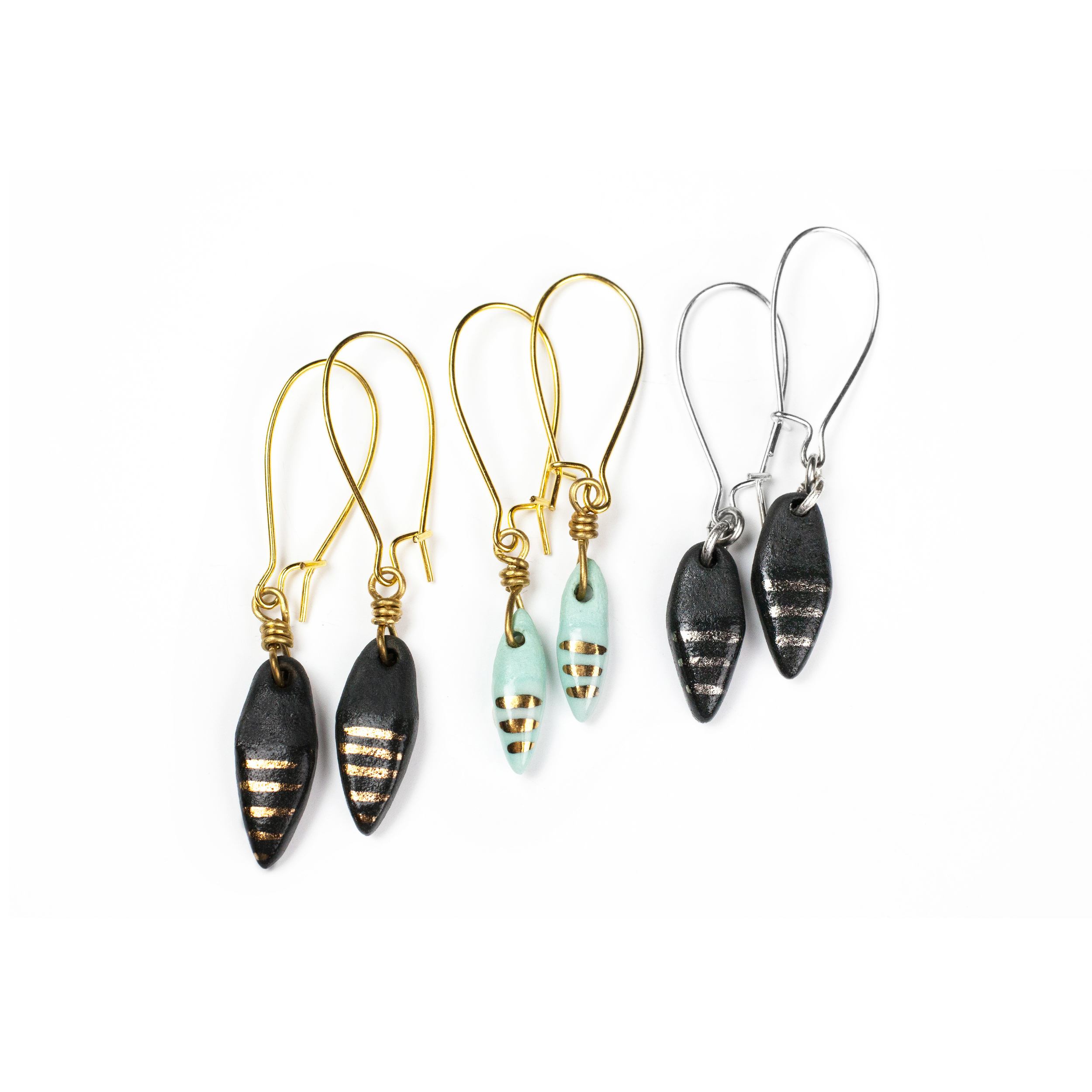 STRIPED ARROW EARRINGS