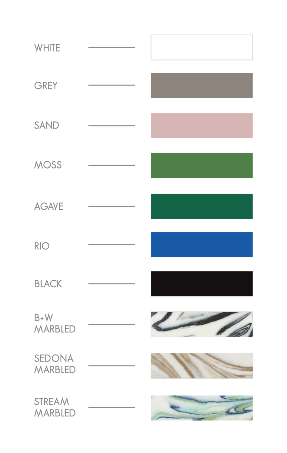 2019 Color Chart