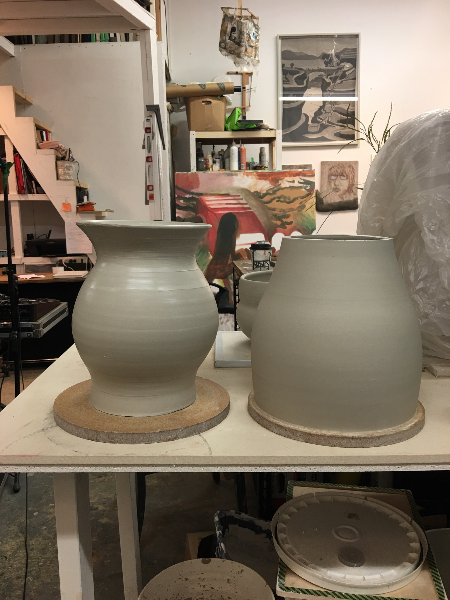 Two sections. The combined height for the entire vase is 24""