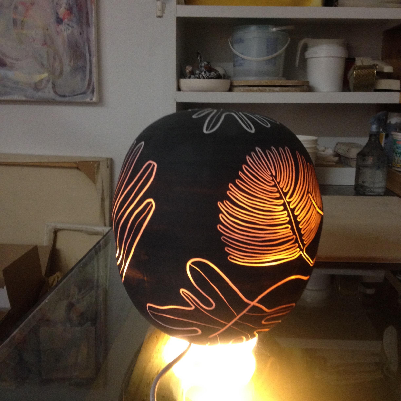 testing light in studio