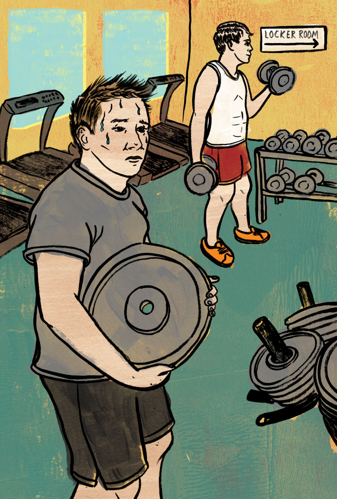 Something new for  the Globe and Mail  about male body image insecurities and the need to work out to gain a body that makes you feel important to other people. This essay was too real for me personally. So finishing the final art was a bit of a mental struggle.    Read the essay here…    Art Director: Matthew French