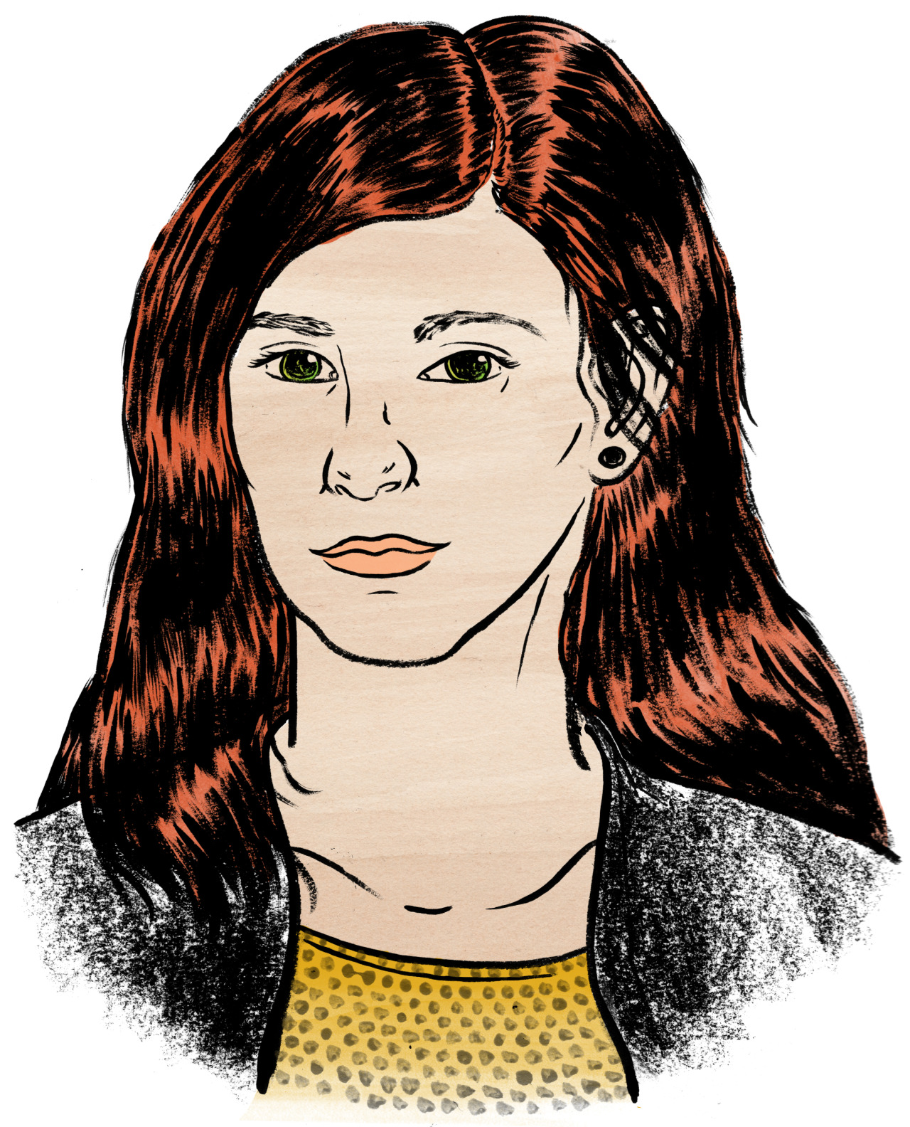 My best friend Dani Diendorf  asked me to draw a portrait of her. I felt flattered and was glad to do so.