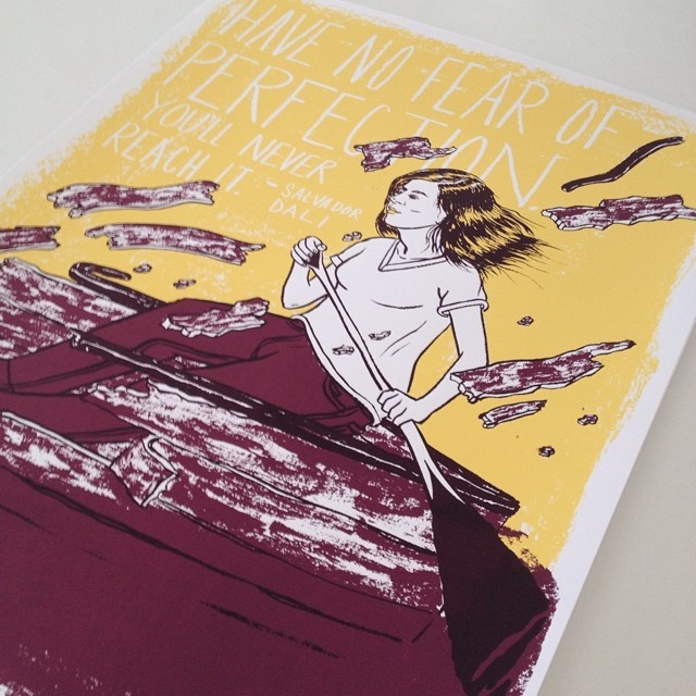 """This is the last week you can purchase my  Baron Fig  18""""x24"""" limited edition screen printed poster (23 of 50 left!) for just $25. After June 30th they will no longer be available so buy yours today.    baronfig.com/getposter7"""