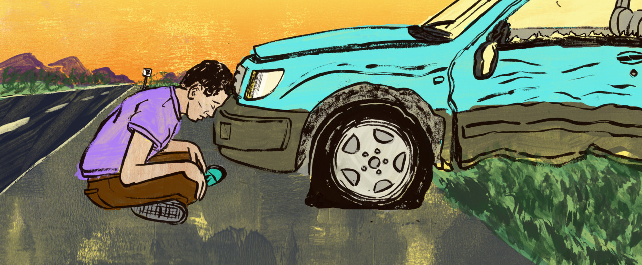 Here is my latest piece for  the Globe & Mail  for their Facts and Arguments section. It's about a guy who had gotten into four car accidents in a year and how each one were not his fault. Sadly because no one was around or didn't want to stick around to be a witness to each of the accidents, each case was judged as equal fault. This means he had to pay for the damage of the other guys car and the other guy his. This basically put a huge dent into his wallet along with his cars.    Click here to read it….    Art Director: Mathew French