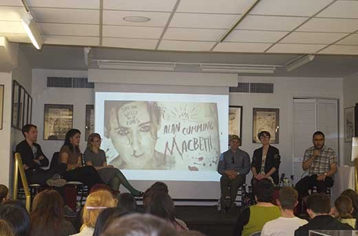 Last April, I moderated my second talk at   the Society of illustrators in NY   on the subject of  the First Four Years . This is the third and final talk I plan on moderating on the subject for quite a while. The panel of exceptional young illustrators include  Tuesday Bassen ,  Wesley Allsbrook ,  Roxie Vizcarra ,  Jonathan Bartlett  and  Rich Tu .   We talked about a wide range of subjects including having a day job while building toward a career in illustration (and how having a day job is ok!), in house illustration, being an art director illustrator hybrid, promotion, having a life outside of art and a bunch of other subjects. This is a much different talk than  the one spoken back in October.    You can view the video on  the Society of illustrators website by clicking here…