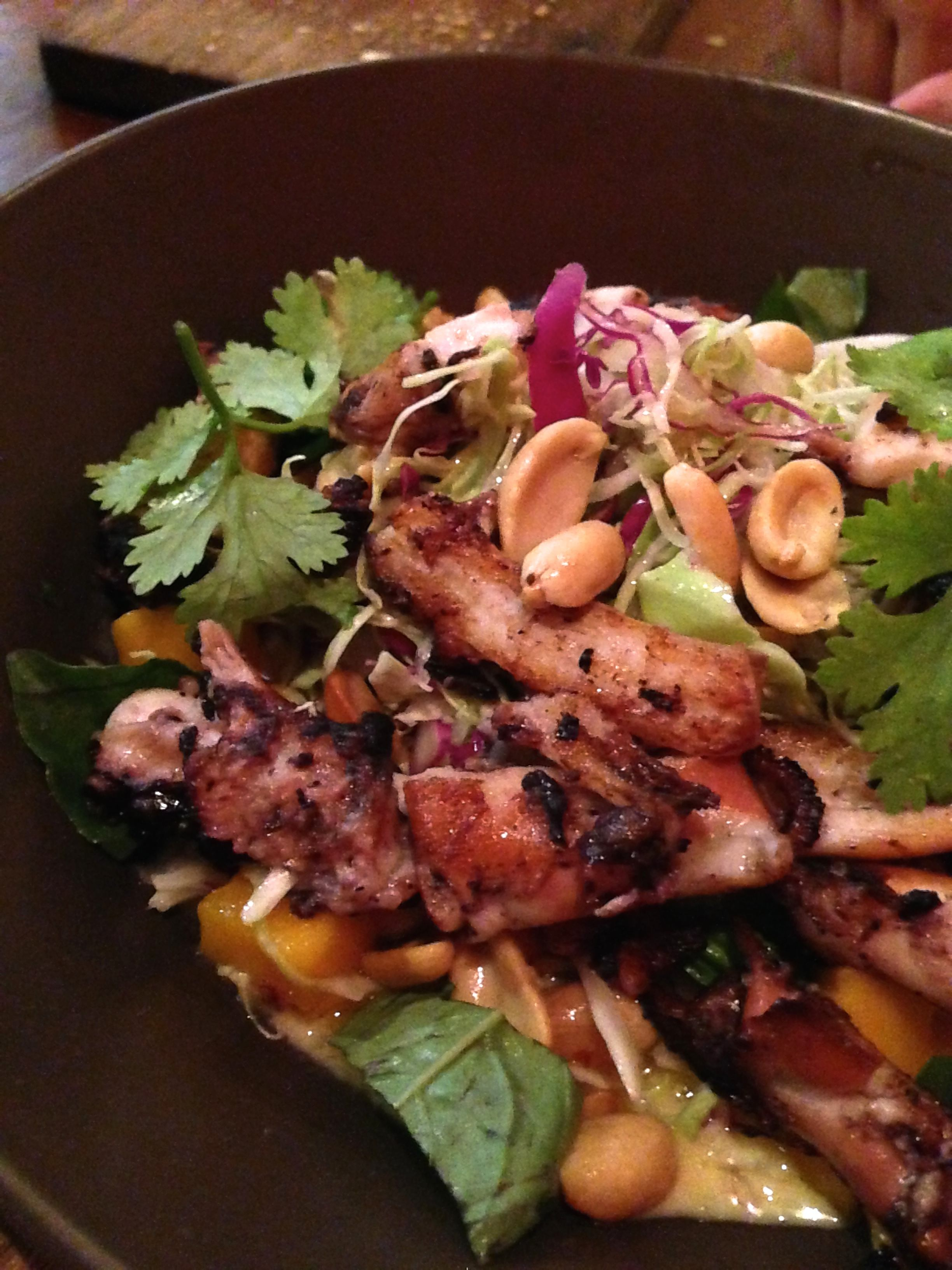 Octopus Salad (Wildflour) I love salads that try to go beyond the usual. This is one of the better ones!