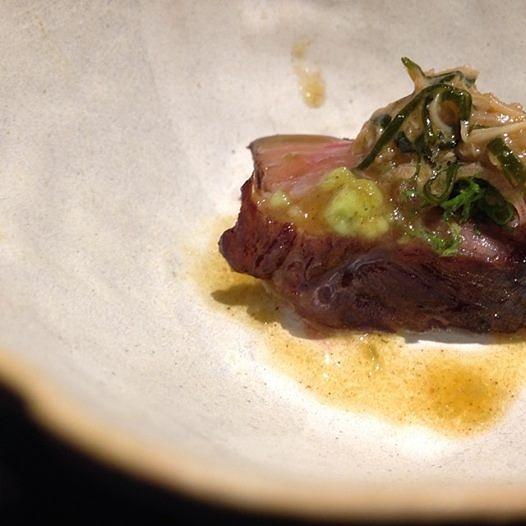 Matsuzaka beef with fresh wasabi and foie gras butter.