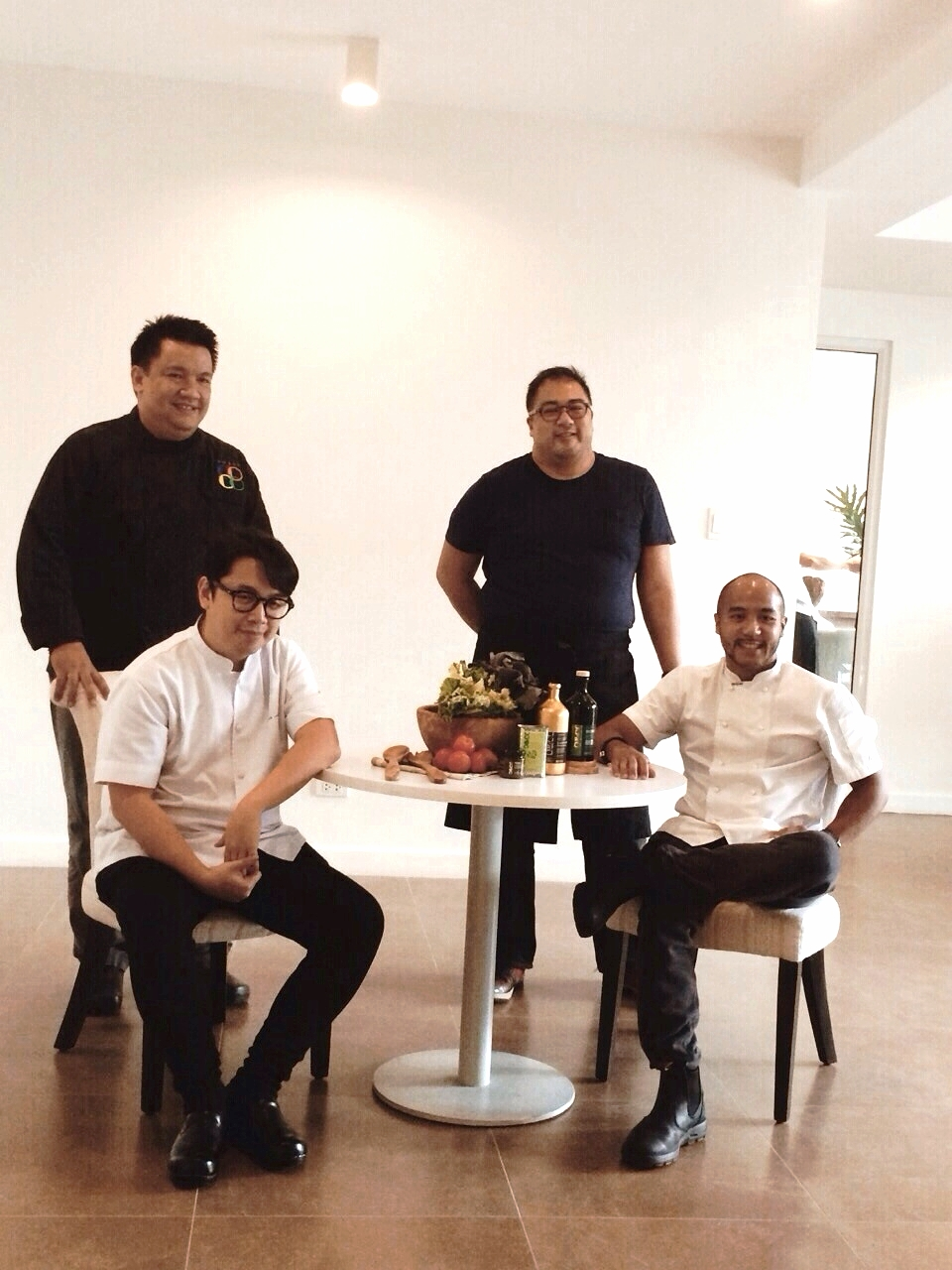 With Chefs Robby Goco, Nicco Santos and JP Anglo