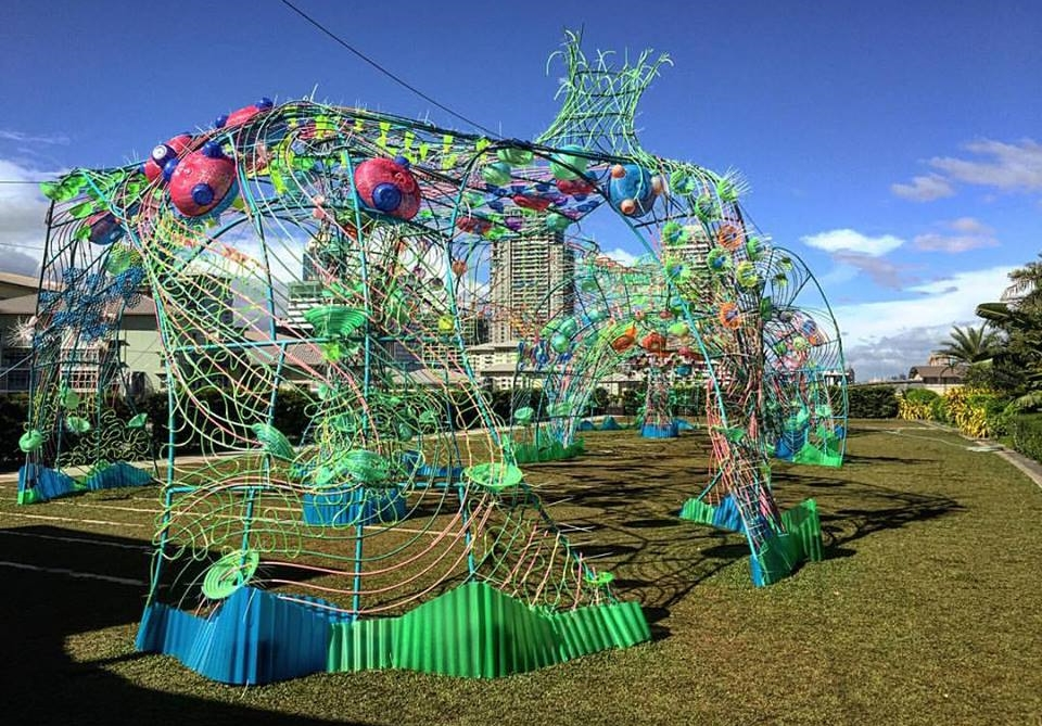 this looks cool even during the day!  😍    t's at the Sky Park of SM Aura all through the holidays.