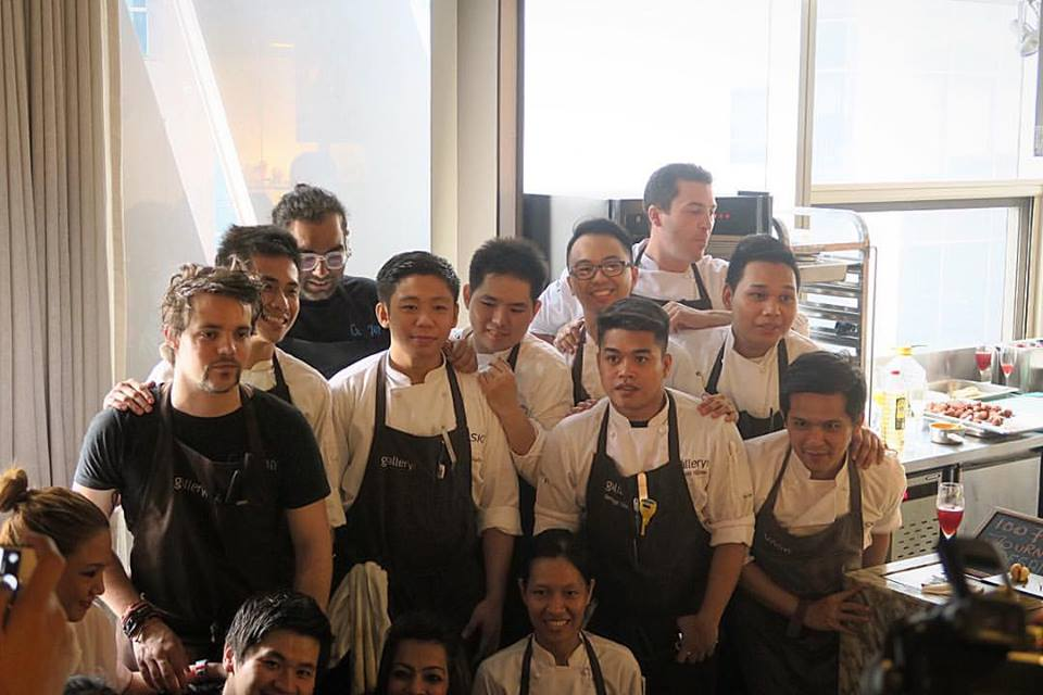 Crappy pic but I wanted to post it because these are the unsung heroes of today's lunch (a spur of the moment thing immediately following last night's tasting dinner, also at Gallery VASK) - Maraming salamat, Team   #GalleryVask  , Team   #VaskTapasRoom  and Team   #Gaggan  !