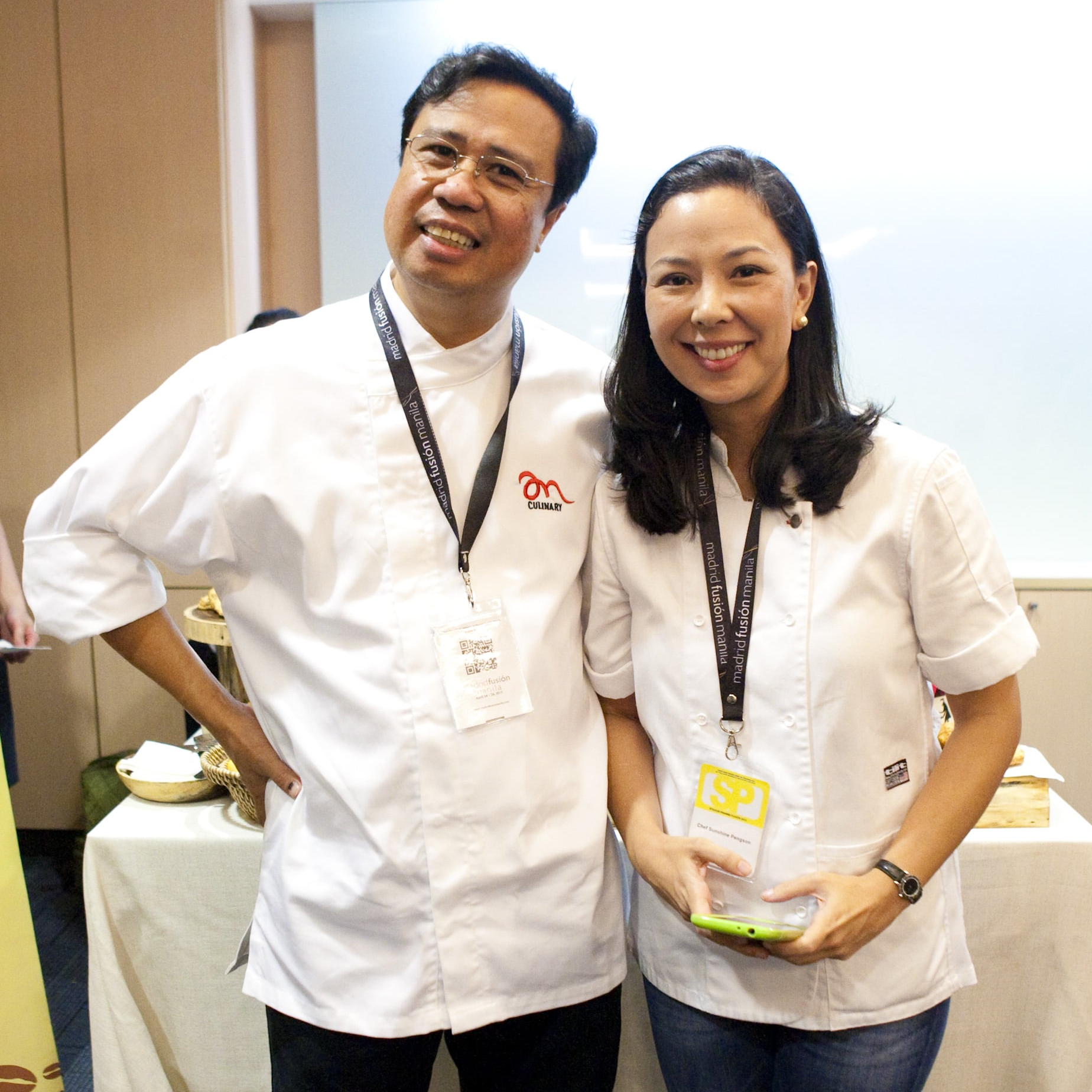 Chef Ariel Manuel together with another favorite Chef Sunshine Puey Pengson. Taken during Madrid Fusion Manila 2015 where they showcased their food for the Visayan Regional lunch.