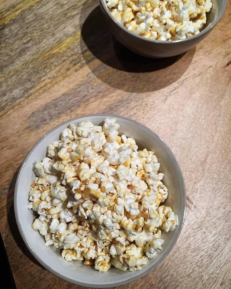 Salted egg flavoured popcorn