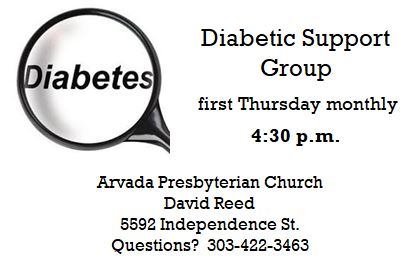 diabetic support group Narthex announcement.JPG