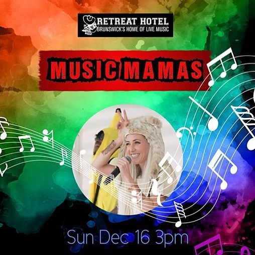 Gig! Burnt letters play the #MusicMamas end of year spectacular showcase at @TheRetreatHotel Sunday 16 December  #gigsforkids #melbournemusic #allages More info at www.burntletters.com/upcoming-gigs/16december2018