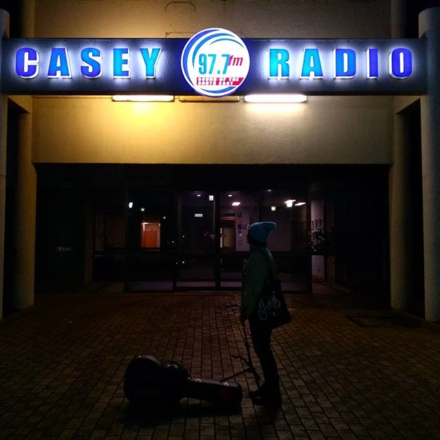 Kinch is playing some solo tunes at @caseyradio977fm — updates later on when you can listen tomorrow on the wireless!