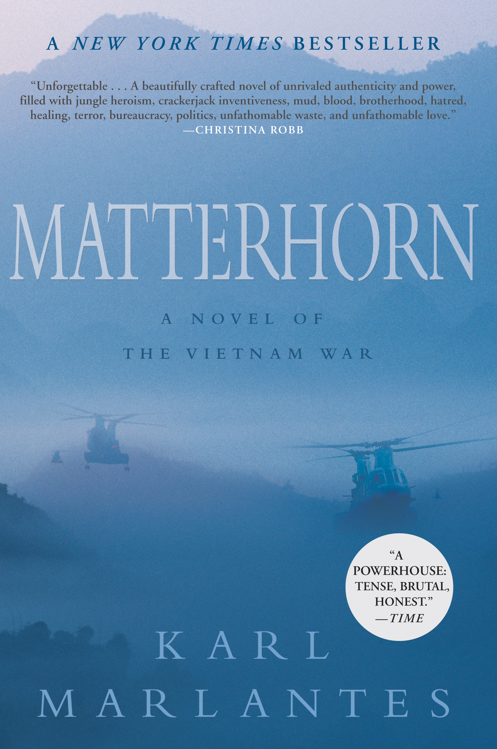 25) Matterhorn - You may never read a book as well written as Karl Marlantes' debut novel Matterhorn. Very roughly based on Malantes' time in Vietnam as a marine, Matterhorn is without a doubt a modern masterpiece. It's a novel where nearly every single world is perfectly chosen, and the prevalence of tension, anxiety, and agony sit perfectly with the few yet powerful veins of hope and understanding that run throughout the text. It may be the best war story ever written, and even if it's not it's most certainly on the same level as novels like Remarque's All Quiet on the Western Front.