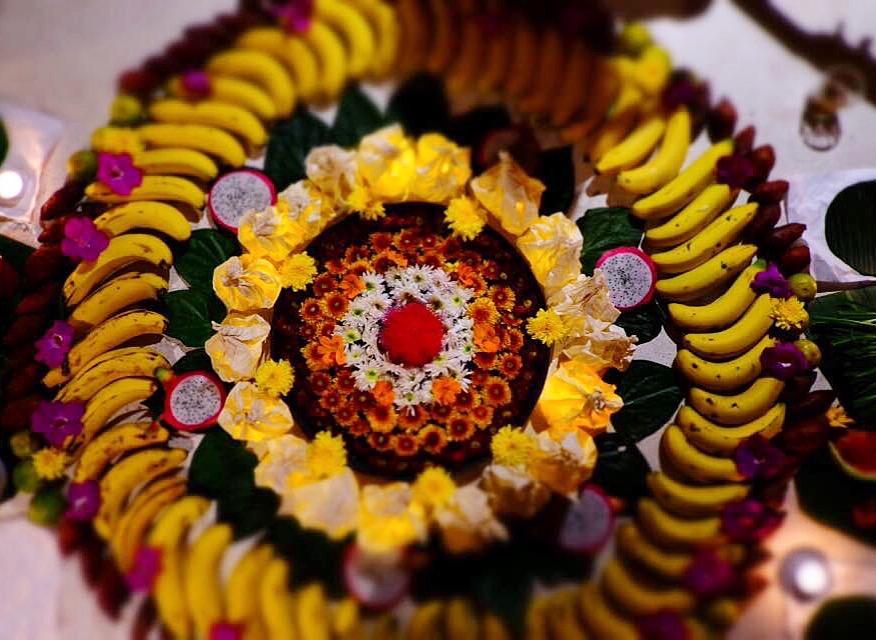 Fruits and Flower Mandala