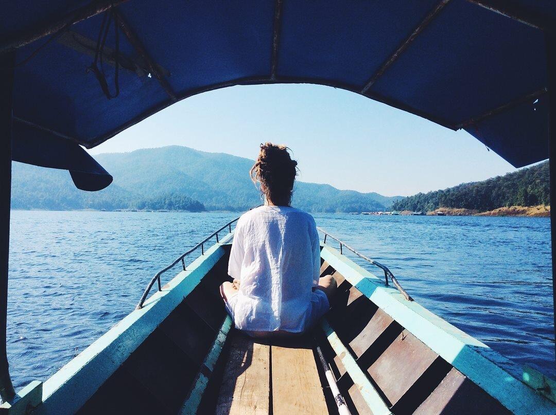 A short boat ride!