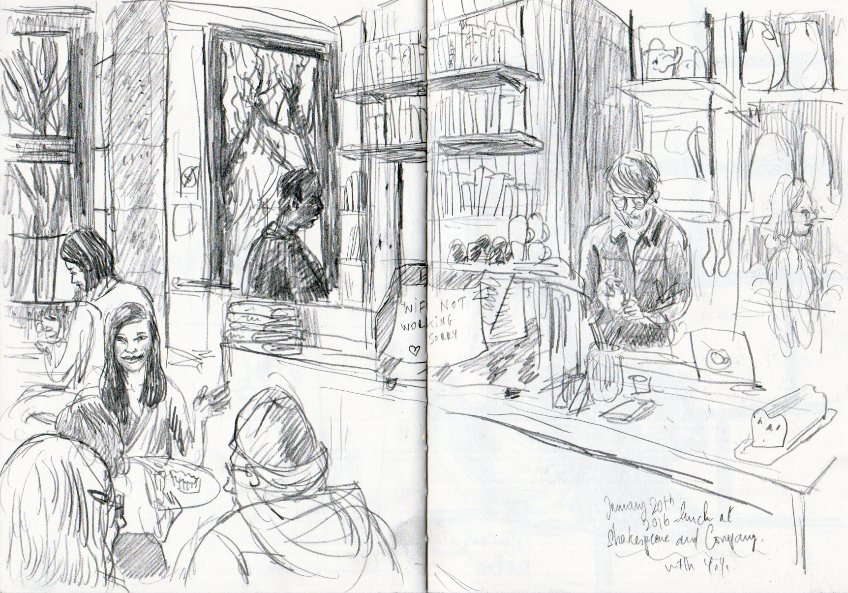 Shakespeare and Company B&W sketch.jpeg