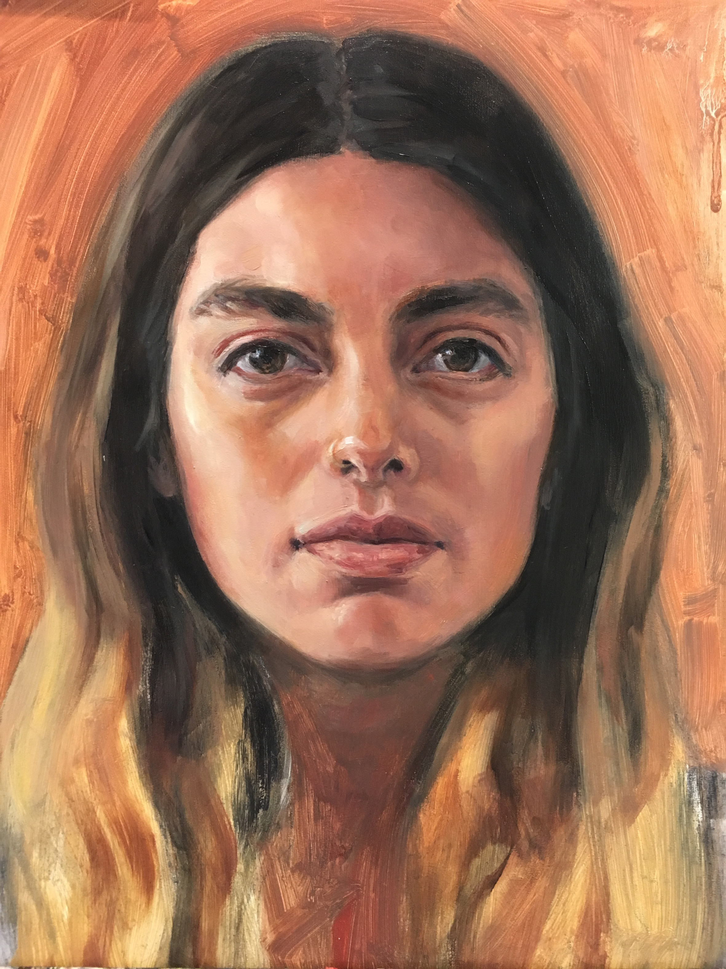 Cassandra   Oil painting on Panel