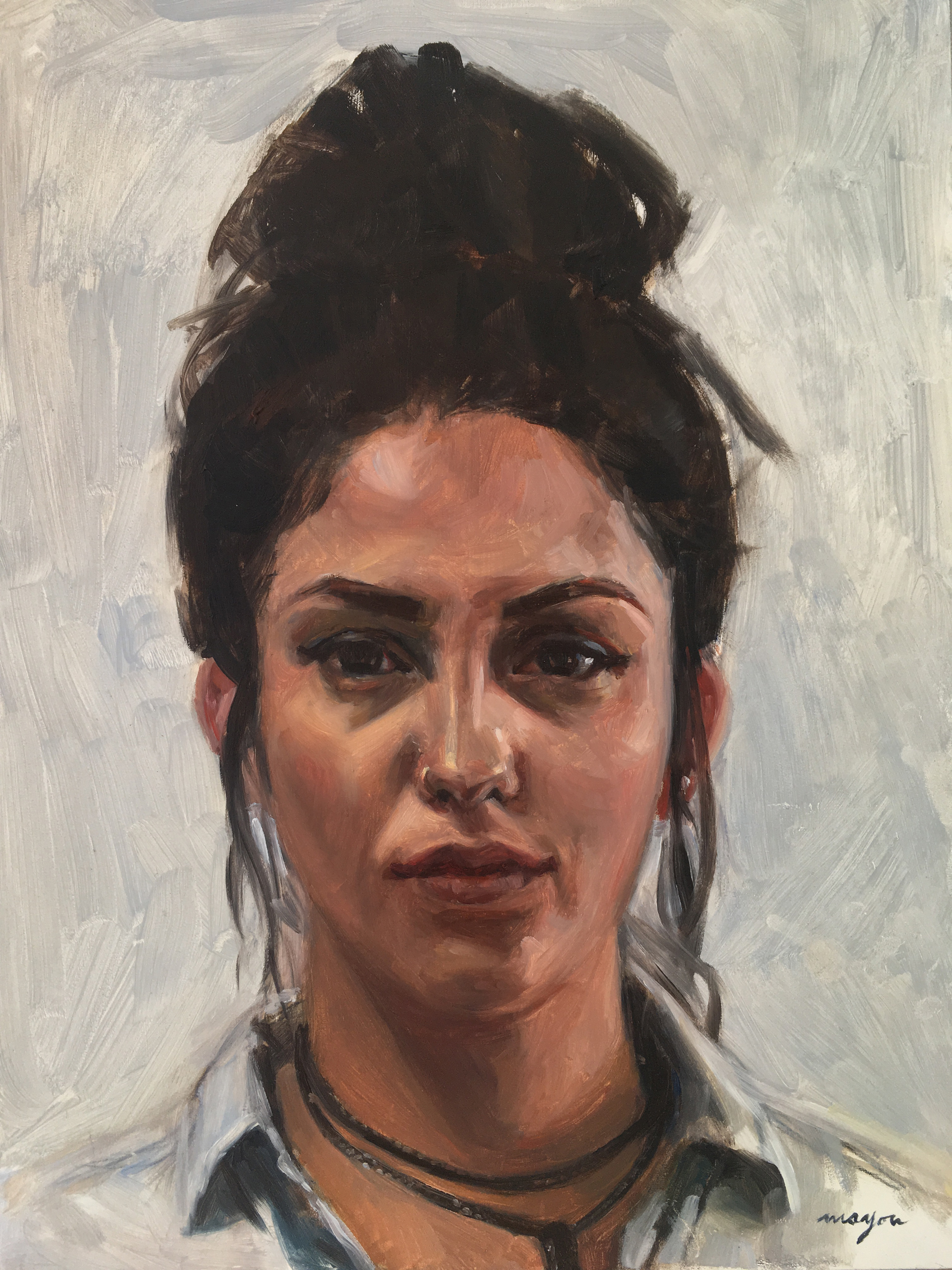Alex   Oil painting on Panel