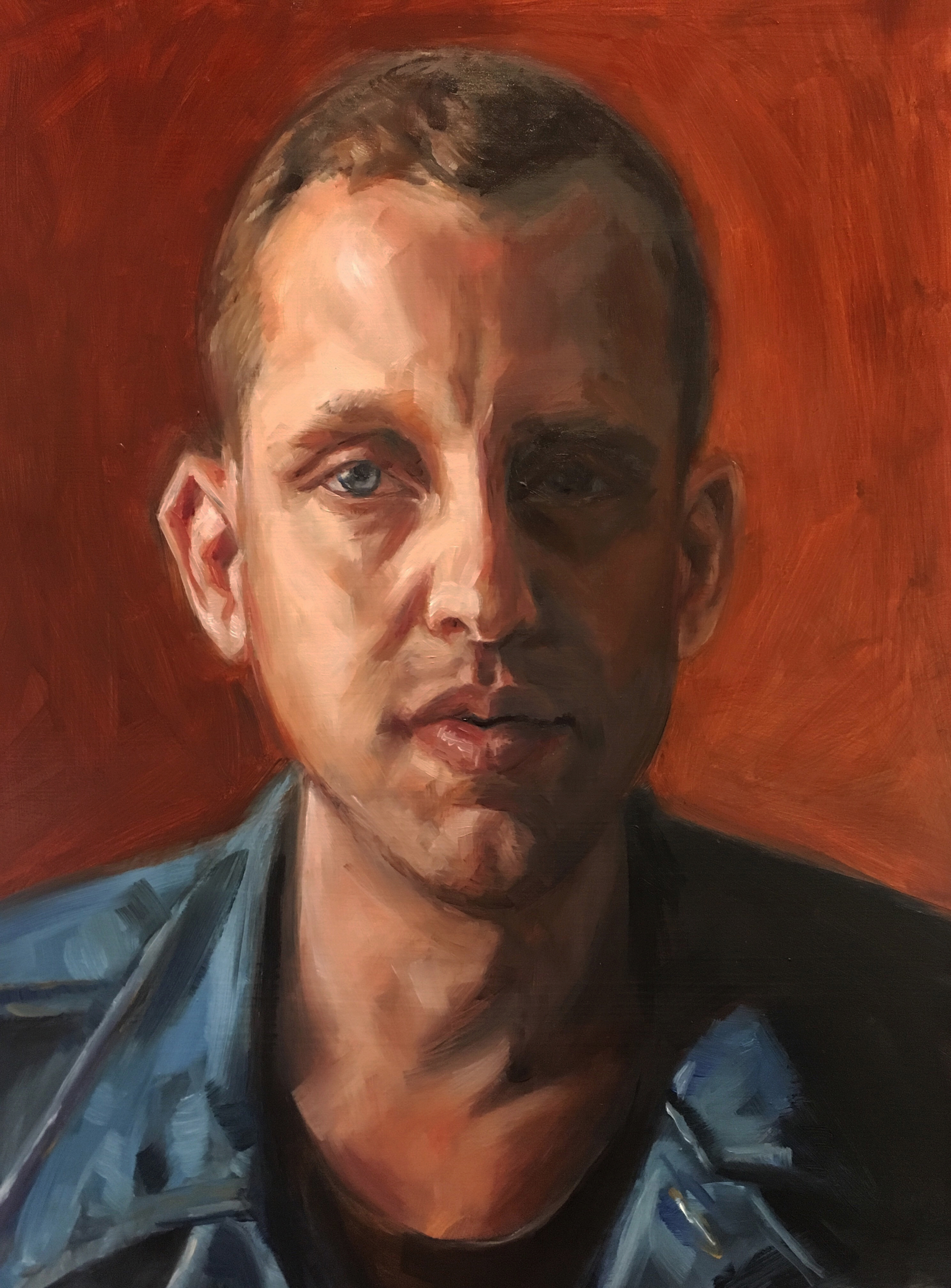 James    Oil painting on Panel