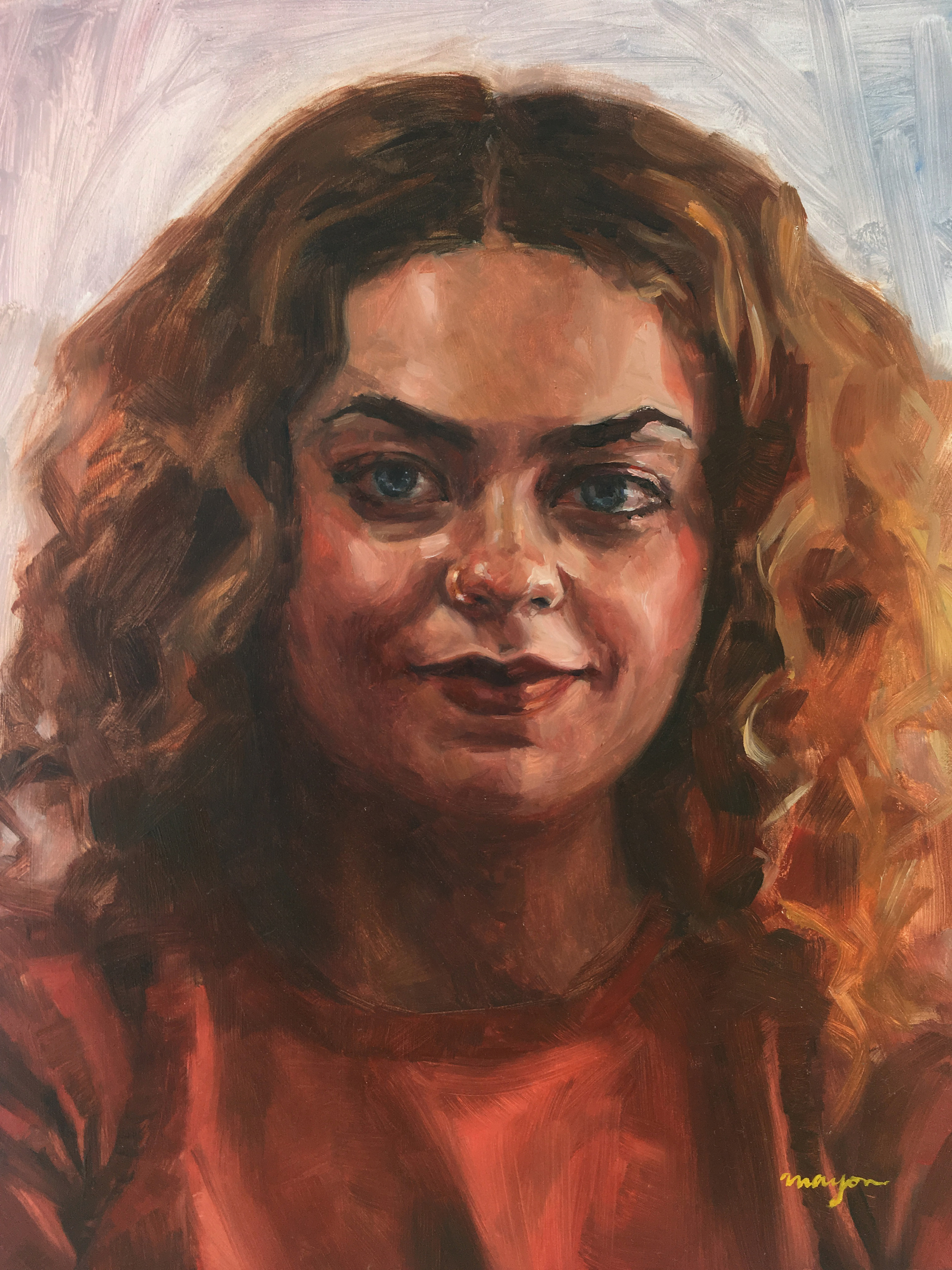 Maddie   Oil painting on Panel