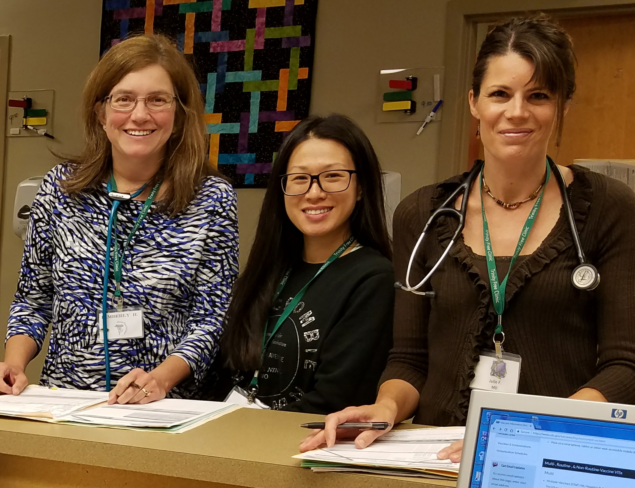 TFC-Photo 5- Volunteer medical staff pause for a moment at the nurses station--cropped.jpg