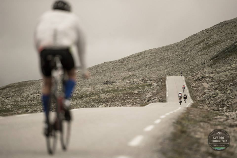 cycling on the plateau, photo by Sverre Hjørnevik