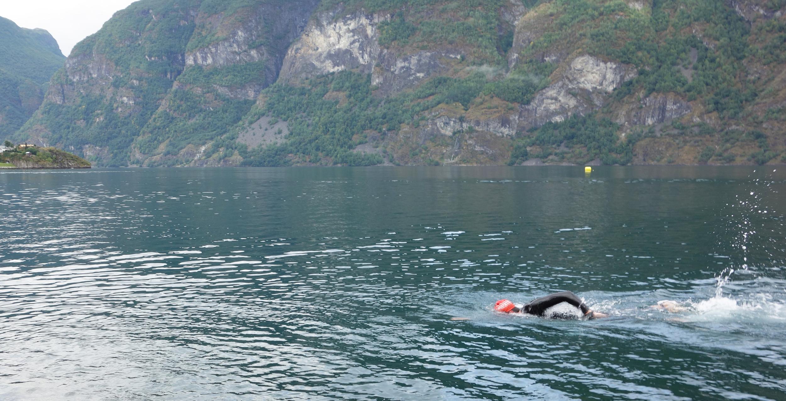 final meters of my swim