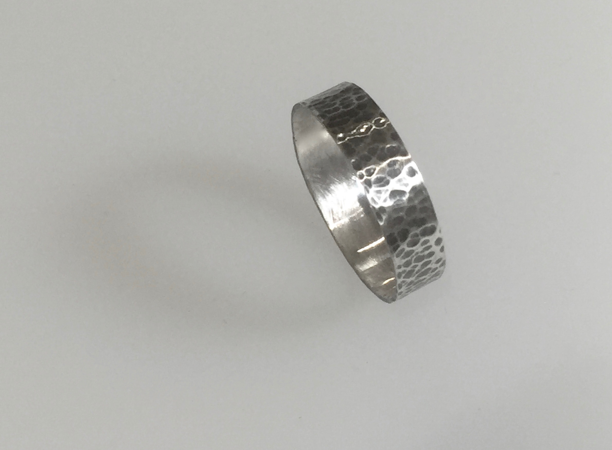Textured and Oxidised Silver Ring