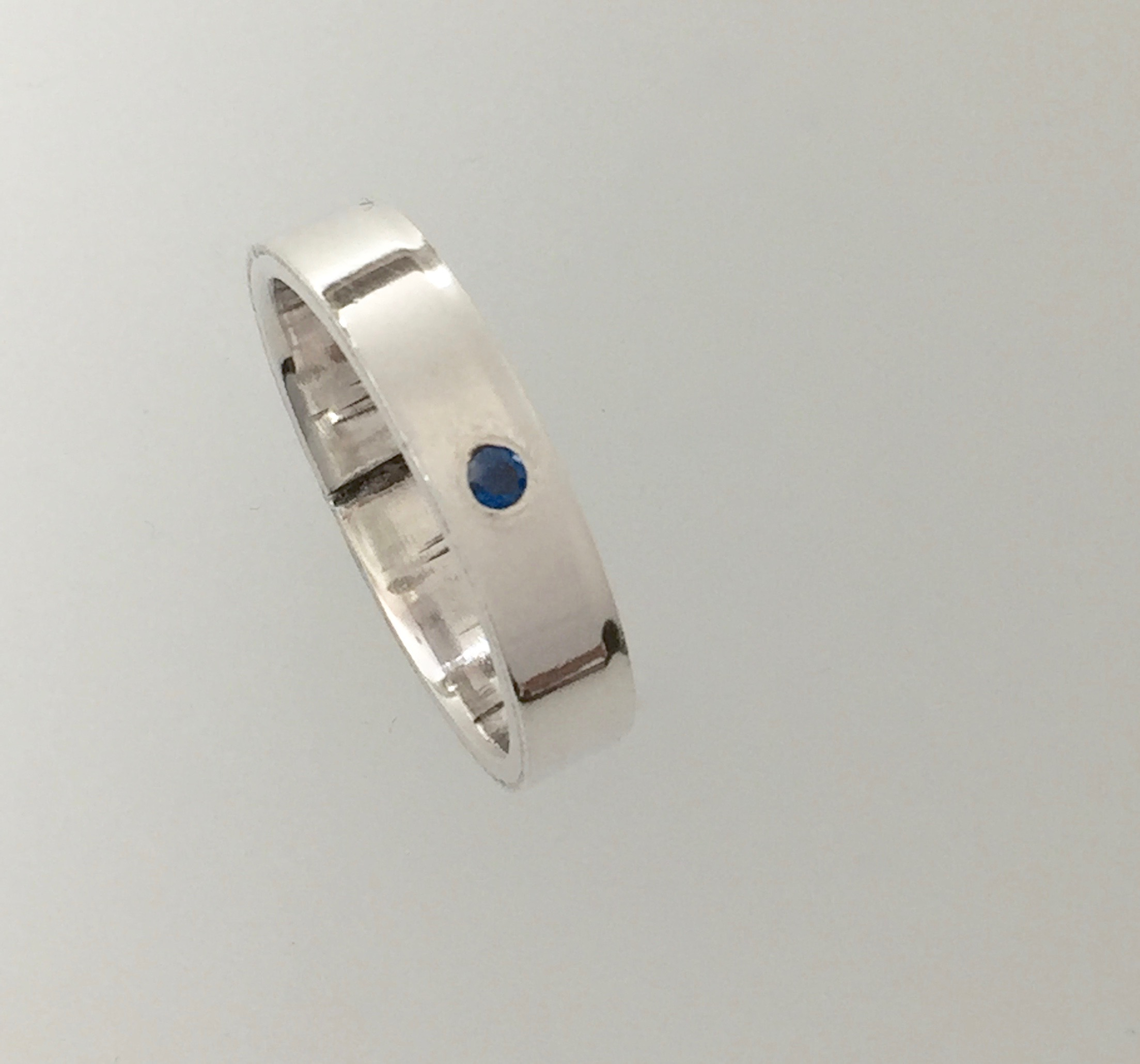 Flush Set Gemstone Ring