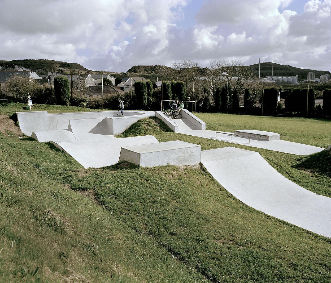 The skatepark in St.Dennis