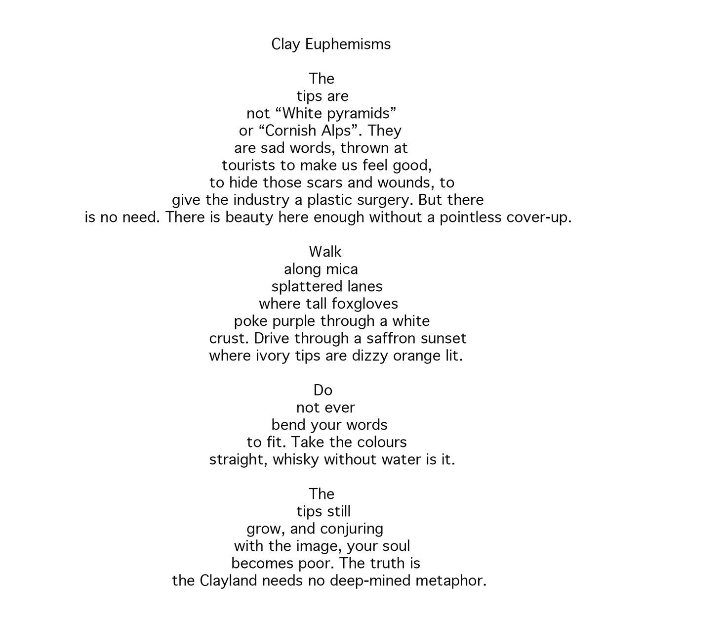 Poem by Alan Kent, Cornish Author