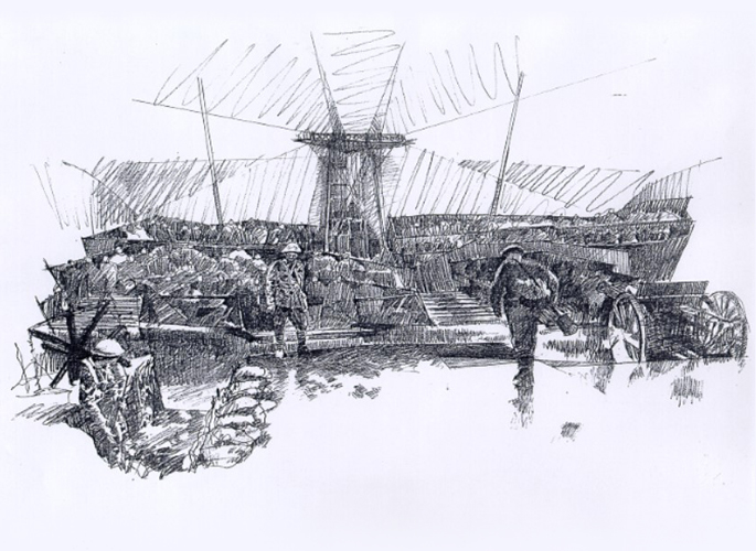 Sketch by John Dangerfield MBE